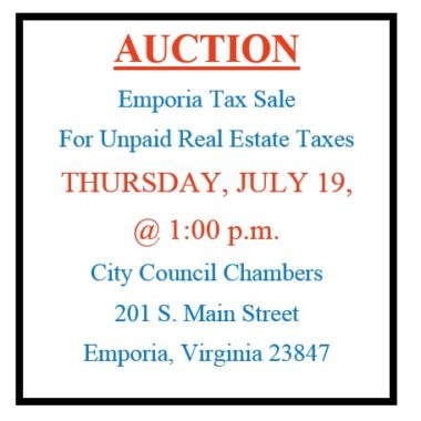 City of Emporia Delinquent Real Estate Tax Sale